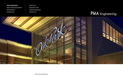 Screenshot of Home Page pmaengineering.com - PMA Engineering  PMA Engineering - PMA Engineering - captured July 17, 2015