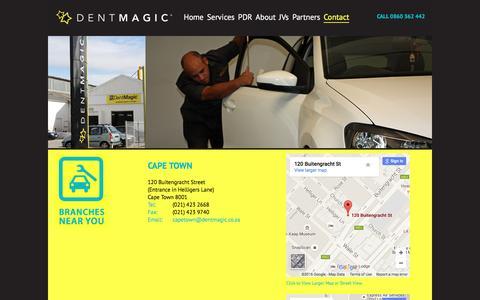 Screenshot of Contact Page dentmagic.co.za - Contact Us   Dentmagic - captured Feb. 9, 2016