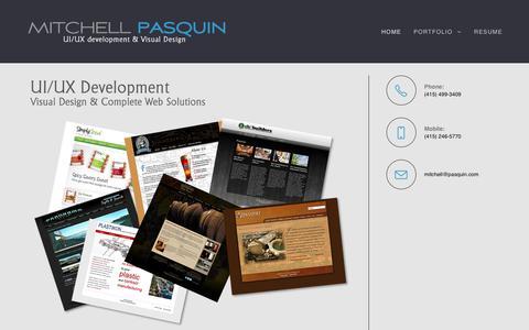 Screenshot of Home Page pasquinproductions.com - UX/UI Development & Visual Design - captured Oct. 21, 2018
