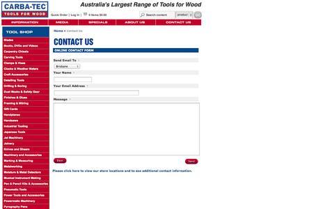 Screenshot of Contact Page carbatec.com.au - Contact Us : CARBA-TEC - captured Oct. 22, 2014