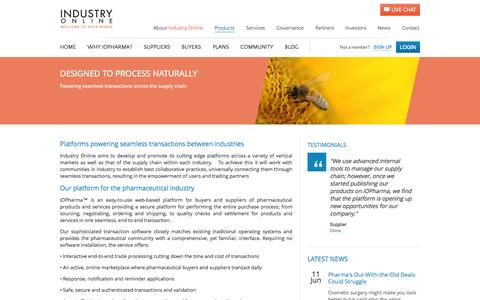 Screenshot of Products Page io-pharma.com - Our Products | iOPharma - captured Sept. 23, 2014
