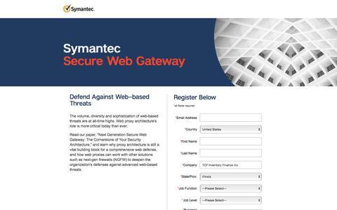 Screenshot of Landing Page symantec.com - Next Generation Secure Web Gateway White Paper | Symantec - captured Sept. 21, 2018