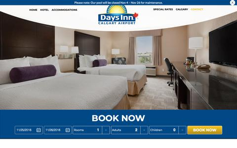 Screenshot of Testimonials Page daysinncalgary.ca - Hotel Reviews | Days Inn Calgary Airport Hotel - captured Nov. 26, 2018