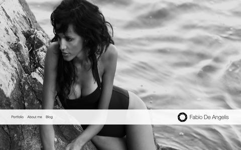 Screenshot of Home Page fabiodeangelis.com - Fabio De Angelis | Photographer  � commercial & fashion photographer � Milano - captured Jan. 8, 2016
