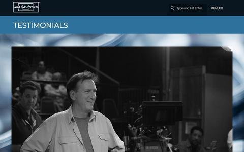 Screenshot of Testimonials Page panavision.com - Testimonials | Panavision - captured July 15, 2018