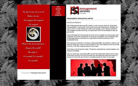 Screenshot of Home Page managementservicesnz.co.nz - MANAGEMENT SERVICES NZ LIMITED - Management Services NZ - captured Oct. 5, 2017