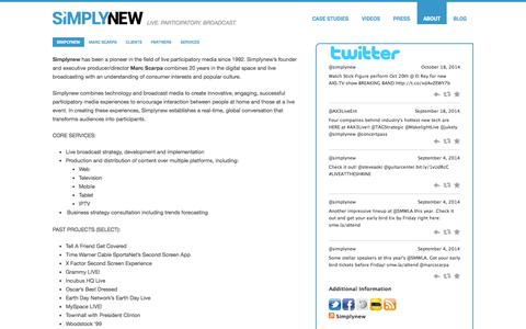 Screenshot of About Page simplynew.com - Simplynew   SIMPLYNEW - captured Oct. 26, 2014