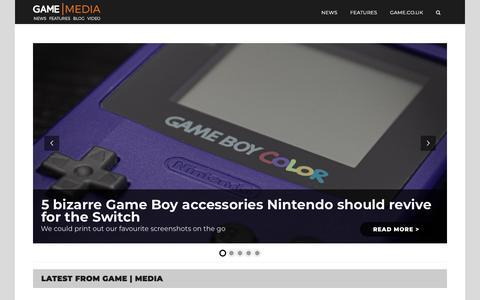 Screenshot of Press Page game.co.uk - Home - GAME | Media - captured Feb. 18, 2020