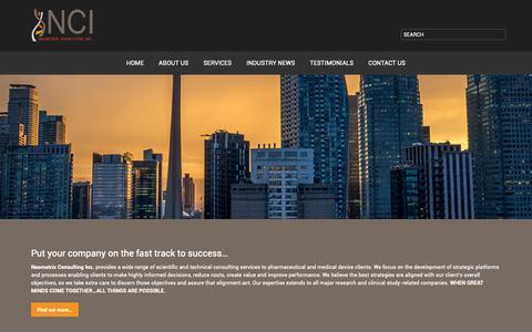 Screenshot of Home Page neometrixconsulting.com - Neometrix Consulting, Inc. - captured Oct. 18, 2018