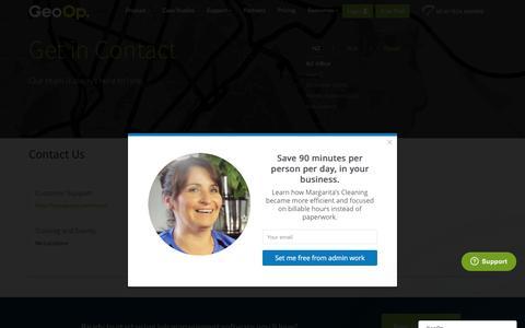 Screenshot of Contact Page geoop.com - Contact Us - GeoOp - captured Oct. 29, 2016