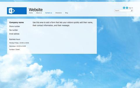 Screenshot of Contact Page deadlamp.net - Contact us - captured Oct. 5, 2014