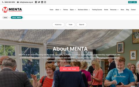 Screenshot of About Page menta.org.uk - MENTA About | Award winning not-for-profit Agency - captured Sept. 29, 2017