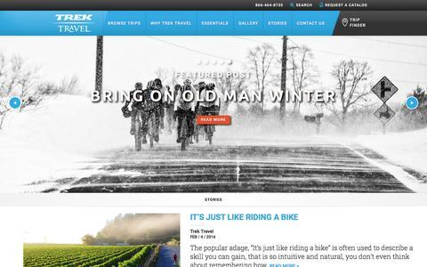 Screenshot of Blog trektravel.com - Read Stories from Around the World on Trek Travel's Blog - captured Feb. 4, 2016