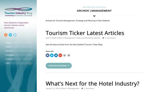 Screenshot of Team Page tourismindustryblog.co.nz - Articles for Tourism Management, Strategy and Planning in New Zealand  | Tourism Industry Blog - captured Oct. 20, 2018