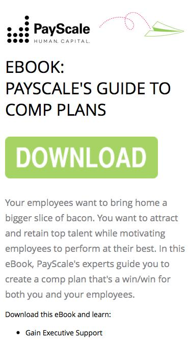 Screenshot of Landing Page  payscale.com - PayScale's Guide to Comp Plans