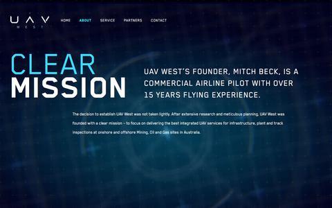 Screenshot of About Page uavwest.com.au - About • UAV West - captured Nov. 3, 2019