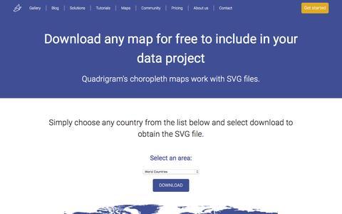 Screenshot of Maps & Directions Page quadrigram.com - Maps - Download SVG maps for free | Quadrigram - captured May 17, 2017