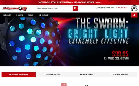 Screenshot of Home Page Site Map Page hollywooddj.com - Hollywood DJ   Best Prices and Fast Shipping on Name Brand DJ Gear and Supplies - captured Sept. 23, 2018