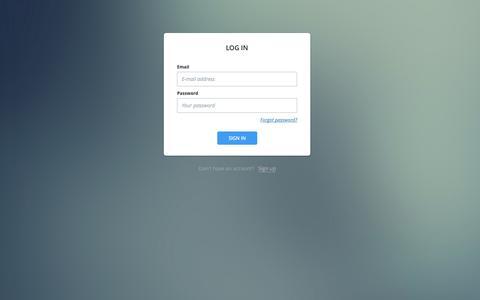 Screenshot of Login Page buzzsumo.com - BuzzSumo - captured Oct. 28, 2014