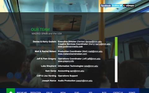 Screenshot of Team Page imm.edu - IMM OUR TEAM - captured Feb. 11, 2016