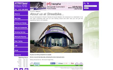 Screenshot of About Page streetbike.co.uk - About Us | Streetbike - captured Nov. 5, 2014
