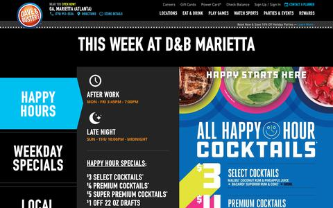 Screenshot of Home Page daveandbusters.com - Dave & Buster's | Events - Arcade - Sports Bar and Restaurant - captured Oct. 7, 2018