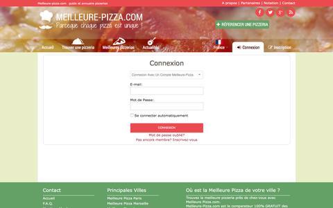 Screenshot of Login Page meilleure-pizza.com - Meilleure Pizza France - Guide et Annuaire des Meilleures Pizzerias. - captured June 3, 2016