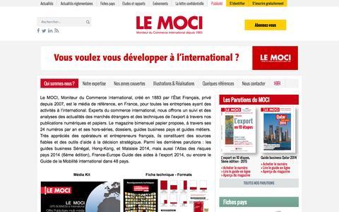 Screenshot of Services Page lemoci.com - Le Moci -   Qui sommes-nous ? - captured Nov. 2, 2014