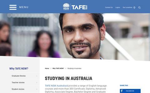 Studying in Australia - TAFE