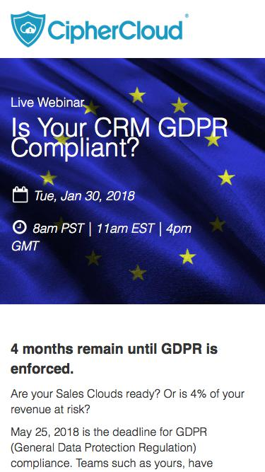 Is Your CRM GDPR Compliant?