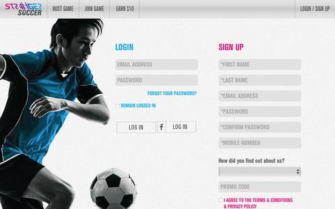 Screenshot of Login Page strangersoccer.com - Login - Stranger Soccer Singapore - captured Aug. 15, 2016