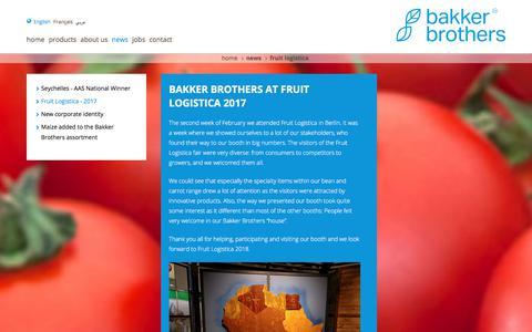 Screenshot of Press Page bakkerbrothers.nl - Bakker Brothers - captured Aug. 1, 2018