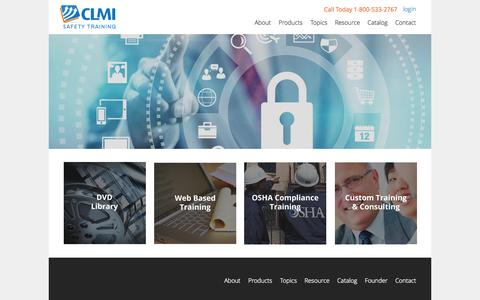 Screenshot of Products Page clmi-training.com - CLMI - captured Oct. 5, 2014