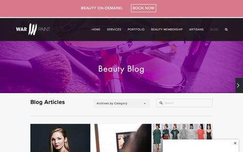 Screenshot of Blog warpaintinternational.com - BLOG — Warpaint International Beauty Agency - captured April 7, 2016