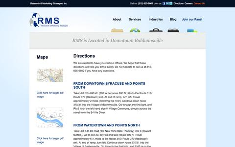 Screenshot of Maps & Directions Page rmsqualisight.com - Research & Marketing Strategies, Inc. - Directions - captured Oct. 2, 2014