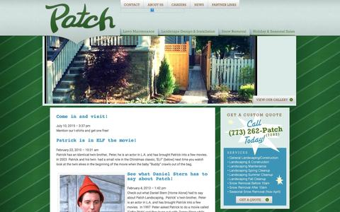 Screenshot of Press Page patchlandscaping.com - Patch Landscaping » Your neighborhood landscape professionials - captured Jan. 26, 2016