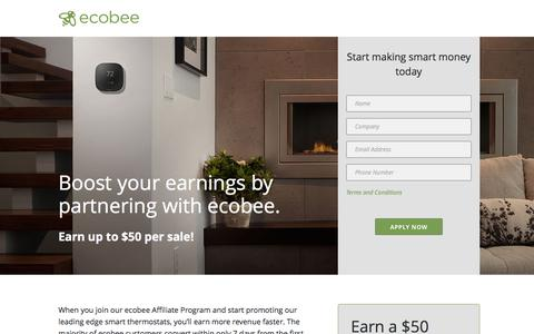 Screenshot of Landing Page ecobee.com - Ecobee3 | Homekit Offer - captured May 20, 2016