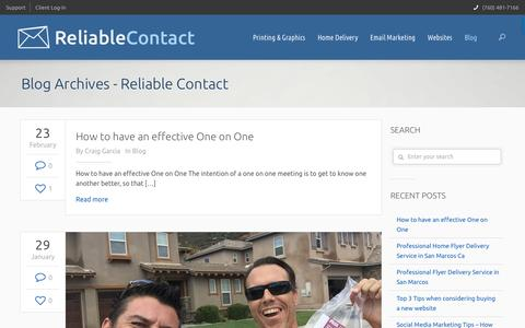 Screenshot of Blog reliablecontact.com - Blog Archives - Reliable ContactReliable Contact - captured Dec. 15, 2016