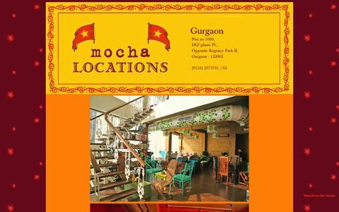 Screenshot of mocha.co.in - Mocha::Gurgaon - captured Oct. 12, 2014