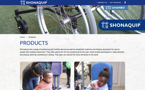 Screenshot of Products Page shonaquip.co.za - Browse Our Complete Range of Products - Shonaquip - captured Oct. 4, 2017