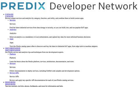 API Documentation | Predix.io