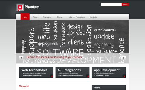Screenshot of Home Page phantomconsulting.com - Phantom Consulting | Cloud IT Staffing - captured Sept. 29, 2014