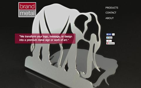 Screenshot of Home Page brandmetal.com - BrandMetal - captured Sept. 30, 2014