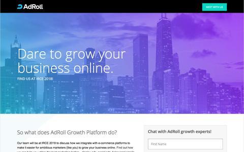 Screenshot of Landing Page adroll.com captured Sept. 21, 2018