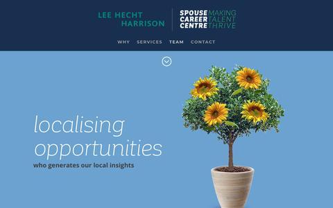 Screenshot of Team Page spousecareercentre.com - Spouse Career Centre | TEAM - captured Nov. 7, 2018