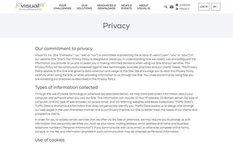 Privacy – Visual IQ