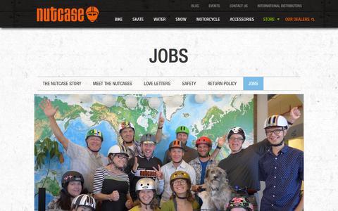 Screenshot of Jobs Page nutcasehelmets.com - Jobs - Nutcase Helmets - captured Feb. 12, 2016