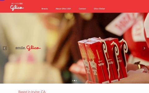 Screenshot of Home Page glicousa.com - Ezaki Glico USA – Snacks, Confectionary & Frozen Desserts - captured Oct. 13, 2015