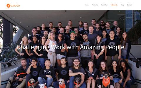 Screenshot of About Page zeeto.io - About Us - Zeeto.io - captured July 10, 2017