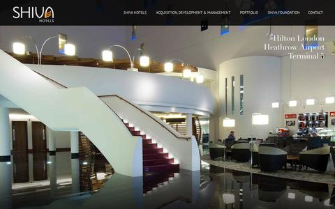 Screenshot of Home Page shiva.co.uk - Shiva Hotels - Acquisition, Development & Management - captured April 2, 2016